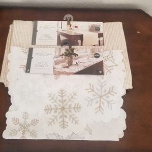 Threshold set of 2 table runners
